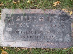 Alice M Beck