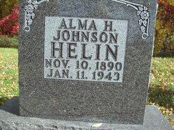 Alma H <I>Johnson</I> Helin