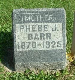 Phebe J <I>Webb</I> Barr