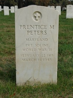Pvt Prentice M Peters