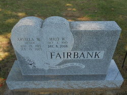 Arvilla M <I>Weider</I> Fairbank