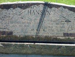 """Hal Walter """"Sneaky Pete"""" Hansen"""