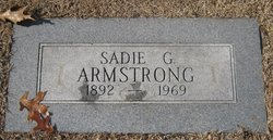 Mrs Sadie Grace Armstrong