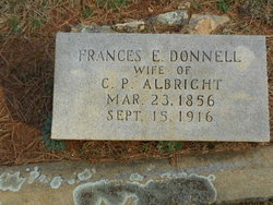 Fannie <I>Donnell</I> Albright