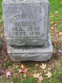 "Petronella ""Nelley"" <I>Hamacher</I> Becker"