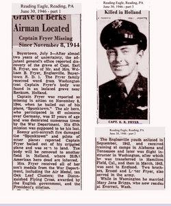 Capt Earl Robert Fryer