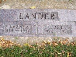 Flora Amanda <I>Carlstrom</I> Lander