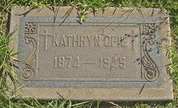 Kathryn Theresa <I>Kelly</I> Opie