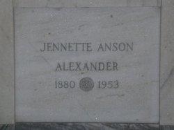 Jennette <I>McDowell</I> Anson Alexander