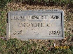 Hannah Elizabeth <I>Tabor</I> Davis