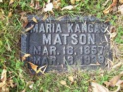 Maria <I>Kangas</I> Mattson