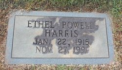 Ethel <I>Powell</I> Harris