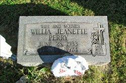 Willia Jeanette <I>Cole</I> Perry