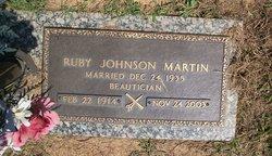 Ruby T <I>Johnson</I> Martin