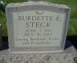 """Burdette Erwin """"Bud"""" Steck"""