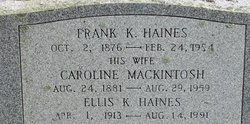 Frank K Haines