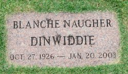 Blanche <I>Naugher</I> Dinwiddie