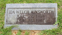 Ida <I>Welch</I> Ainsworth