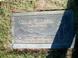 Emma Ursal <I>Schwent</I> Marik