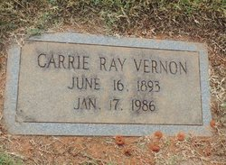 Carrie Dell <I>Ray</I> Vernon