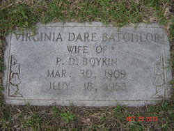 "Virginia Dare ""Virgie"" <I>Batchelor</I> Boykin"