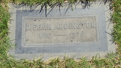 "Olive Fern ""Fern"" <I>Jester</I> Addington"