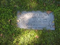 Annie J <I>Brown</I> Adeyemi
