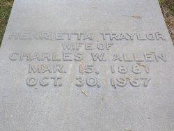 Henrietta <I>Traylor</I> Allen