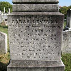 Sarah <I>Brown</I> Levering