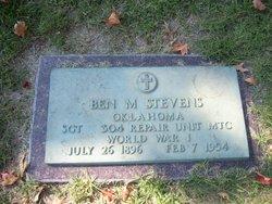 "Benjamin M. ""Ben"" Stevens"