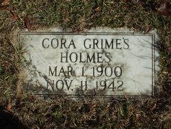 Cora <I>Grimes</I> Holmes