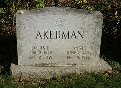 Annie <I>Connell</I> Akerman