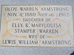 Olive Rebecca <I>Warren</I> Armstrong