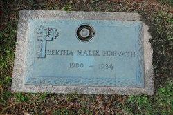 Bertha <I>Malik</I> Horvath