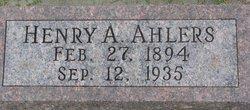 Henry Albert Ahlers