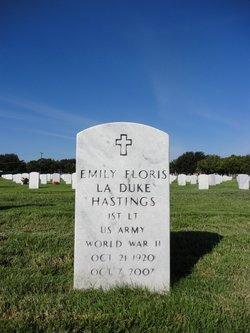 Emily Floris <I>La Duke</I> Hastings