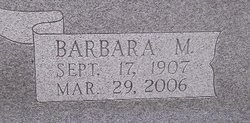 Barbara M <I>Mills</I> Miller
