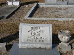 Mary Jane <I>Giddens</I> Adams
