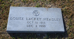 Louise <I>Lackey</I> Headley