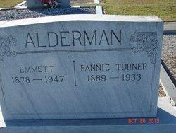Fannie <I>Turner</I> Alderman
