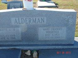 Mary Frances <I>Woodcock</I> Alderman