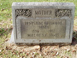 Georgia Ernestine <I>Griswood</I> Jones