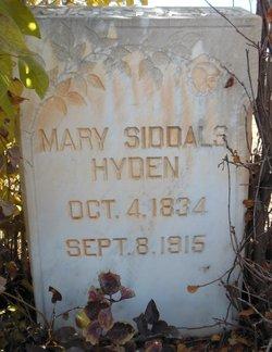 Mary <I>Siddals</I> Hyden
