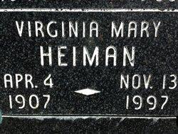 Virginia Mary <I>Anderson</I> Heiman