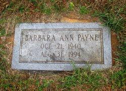 Barbara Ann <I>Miller</I> Payne