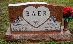 Betty M <I>Bittner</I> Baer