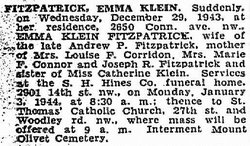 Emma T <I>Klein</I> Fitzpatrick