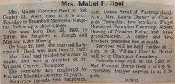 Mabel Florence <I>Hoerig</I> Reel
