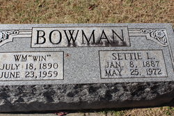 Settie L. <I>Pate</I> Bowman