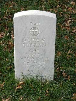 Alice V Curran